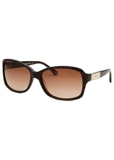 Michael By Michael Kors Women's Claremont Dark Havana Square Sunglasses