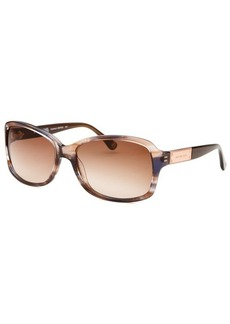 Michael By Michael Kors Women's Claremont Grey and Brown Square Sunglasses