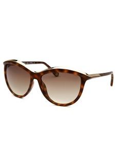 Michael By Michael Kors Women's Dianna Cat Eye Havana Sunglasses