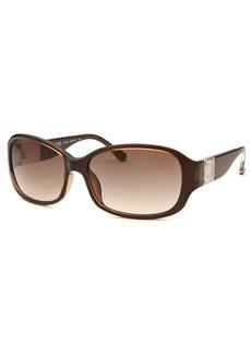 Michael By Michael Kors Women's Eleanor Rectangle Brown Sunglasses