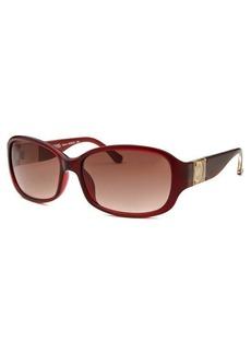 Michael By Michael Kors Women's Eleanor Rectangle Red Sunglasses
