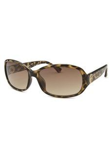 Michael By Michael Kors Women's Eve Rectangle Tortoise Sunglasses