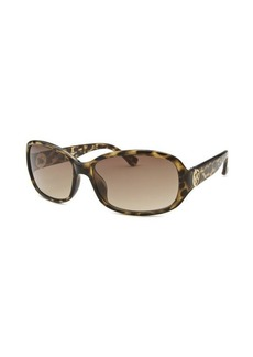 Michael By Michael Kors Women's Eve Rectangle Tortoise Sunglasses