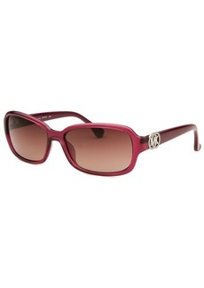 Michael By Michael Kors Women's Jardines Dark Blush Rectangle Sunglasses