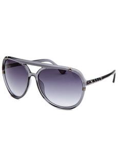 Michael By Michael Kors Women's Jemma Aviator Translucent Grey Sunglasses