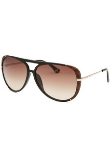 Michael By Michael Kors Women's Julia Aviator Black Sunglasses