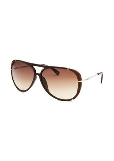 Michael By Michael Kors Women's Julia Aviator Brown Sunglasses