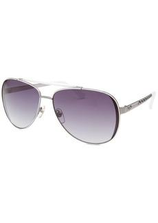 Michael By Michael Kors Women's Kendall Aviator Silver-Tone Sunglasses