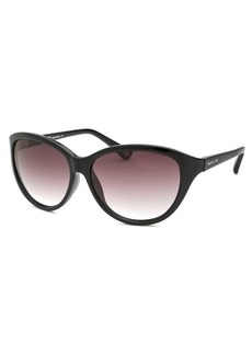 Michael By Michael Kors Women's Kona Cat Eye Black Sunglasses
