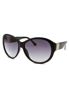 Michael By Michael Kors Women's Maeve Round Black Sunglasses