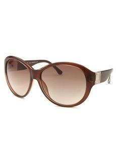 Michael By Michael Kors Women's Maeve Round Brown Sunglasses