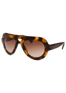 Michael By Michael Kors Women's Marisa Aviator Tortoise Sunglasses