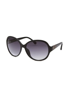 Michael By Michael Kors Women's Morgan Round Black Sunglasses