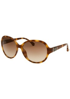 Michael By Michael Kors Women's Morgan Round Soft Tortoise Sunglasses