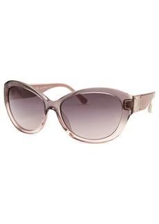 Michael By Michael Kors Women's Nora Butterfly Translucent Mauve Sunglasses