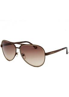 Michael By Michael Kors Women's Peyton Aviator Brown Sunglasses