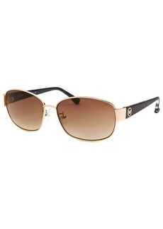 Michael By Michael Kors Women's Phuket Rectangle Rose-Tone Sunglasses