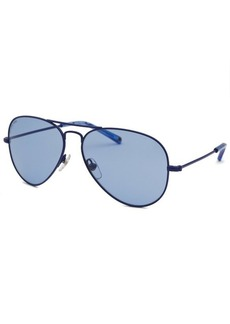 Michael By Michael Kors Women's Rachel Aviator Blue Sunglasses