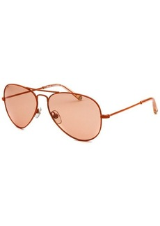 Michael By Michael Kors Women's Rachel Aviator Orange Sunglasses