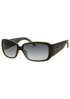 Michael By Michael Kors Women's Rectangle Black And Olive Green Sunglasses