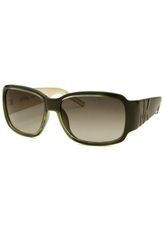 Michael By Michael Kors Women's Rectangle Olive Green Sunglasses