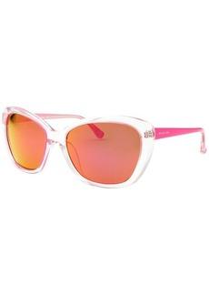Michael By Michael Kors Women's Sabrina Cat Eye Translucent & Hot Pink Sunglasses