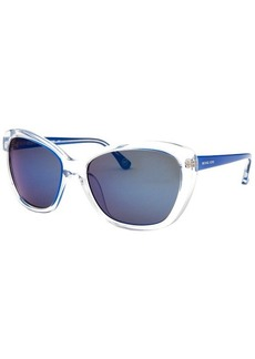 Michael By Michael Kors Women's Sabrina Cat Eye Translucent & Royal Blue Sunglasses