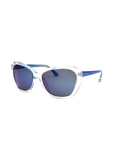 Michael By Michael Kors Women's Sabrina Cat Eye Translucent & Royal Blue Sunglasses