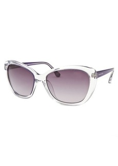 Michael By Michael Kors Women's Sabrina Cat Eye Translucent and Purple Sunglasses