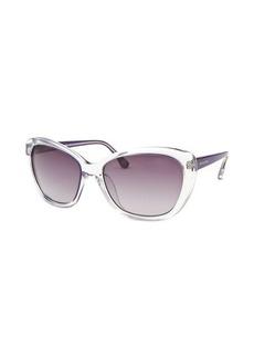 Michael By Michael Kors Women's Sabrina Cat Eye Translucent and Purple Sunglasses