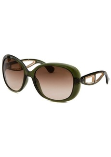 Michael By Michael Kors Women's Sanibel Square Translucent Green Sunglasses