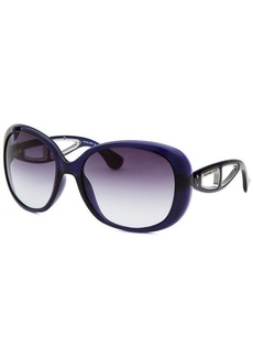 Michael By Michael Kors Women's Sanibel Square Translucent Purple Sunglasses