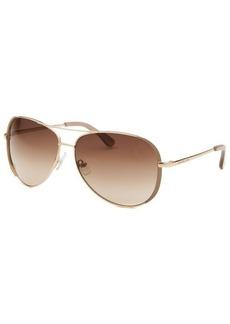 Michael By Michael Kors Women's Sicily Gold-Tone Aviator Sunglasses