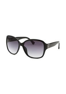 Michael By Michael Kors Women's Sophia Black Square Sunglasses