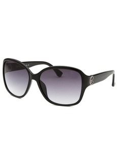 Michael By Michael Kors Women's Sophia Black Square Sunglasses
