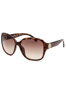 Michael By Michael Kors Women's Sophia Square Havana Sunglasses
