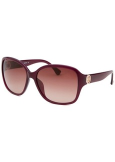 Michael By Michael Kors Women's Sophia Square Purple Sunglasses