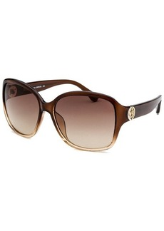Michael By Michael Kors Women's Sophia Square Transparent Sunglasses