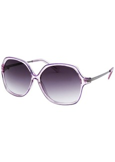 Michael By Michael Kors Women's Square Purple Transparent Sunglasses