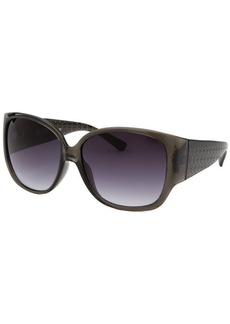Michael By Michael Kors Women's Square Translucent Black Sunglasses