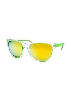 Michael By Michael Kors Women's Tessa Square Neon Green Sunglasses