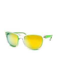 Michael By Michael Kors Women's Tessa Square Neon Green Sunglasses