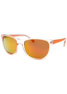 Michael By Michael Kors Women's Tessa Square Neon Orange Sunglasses