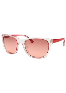Michael By Michael Kors Women's Tessa Square Transparent and Red Sunglasses