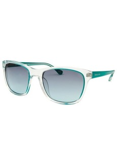 Michael By Michael Kors Women's Tessa Square Transparent and Teal Sunglasses