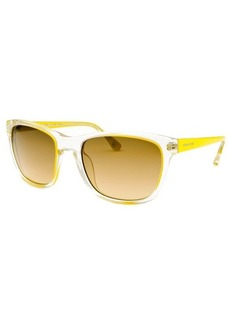 Michael By Michael Kors Women's Tessa Square Transparent and Yellow Sunglasses