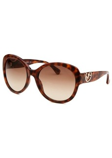 Michael By Michael Kors Women's Tori Brown Havana Round Sunglasses