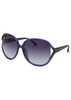 Michael By Michael Kors Women's Vanessa Square Translucent Purple Sunglasses