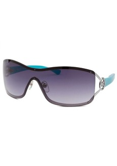 Michael By Michael Kors Women's Verona Shield Silver-Tone And Turquoise Sunglasses