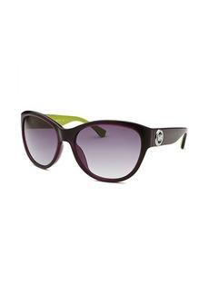 Michael By Michael Kors Women's Vivian Round Purple & Lime Green Sunglasses
